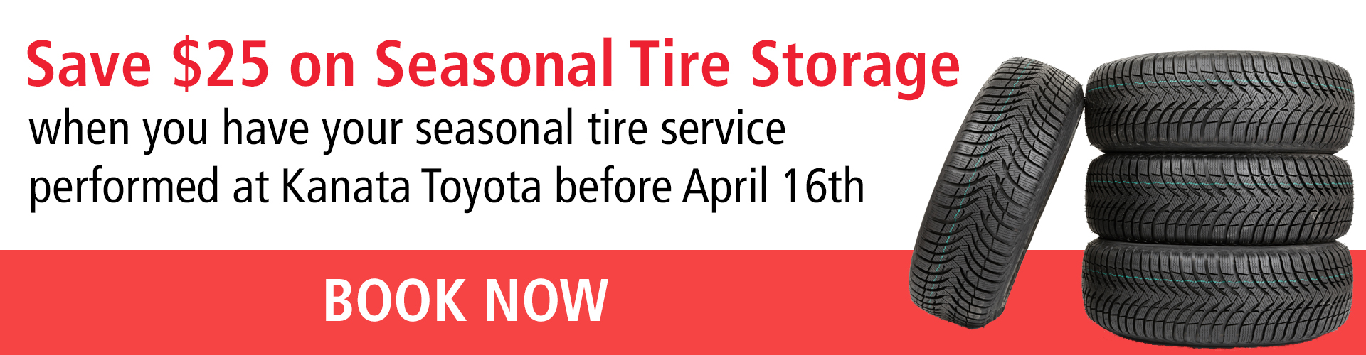 Save $25 On seasonal tire storage